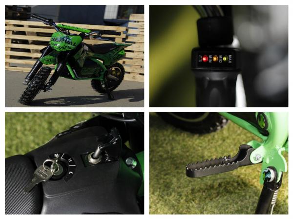 Mini motocicleta electrica NITRO Eco Serval 500W 10/10 #Verde 3