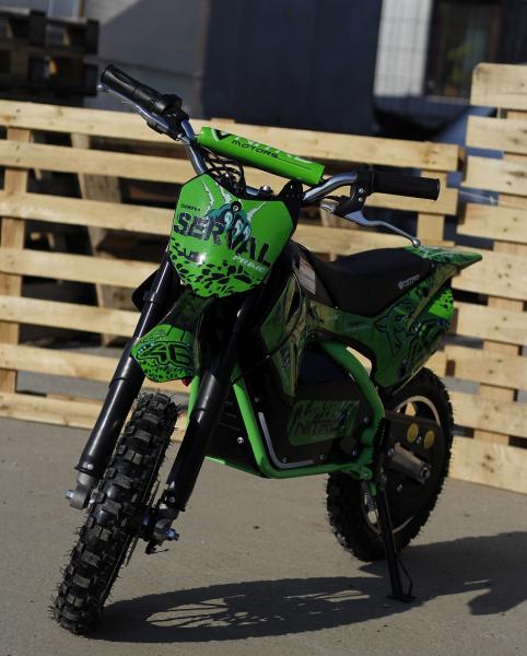 Mini motocicleta electrica NITRO Eco Serval 500W 10/10 #Verde 1