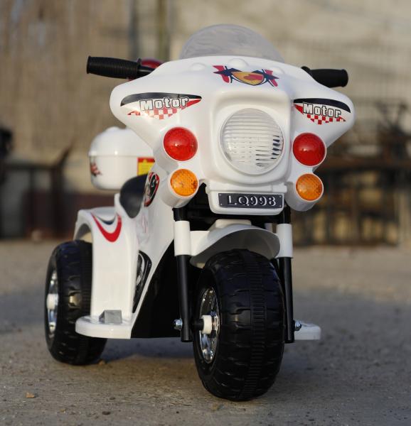 Mini Motocicleta electrica cu 3 roti LQ998 STANDARD #Alb 1
