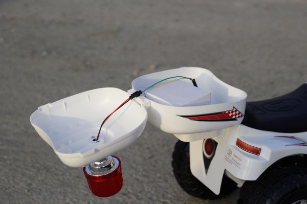 Mini Motocicleta electrica cu 3 roti LQ998 STANDARD #Alb 5