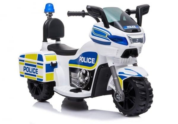 Mini Motocicleta electrica Police Motorbike TR1912 STANDARD #Alb 0