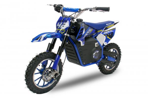 Mini Motocicleta electrica Eco Jackal 1000W 10 inch #Albastru 0