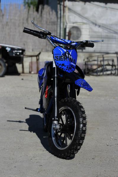 Mini motocicleta electrica NITRO Eco Serval 500W 10/10 #Albastru 1