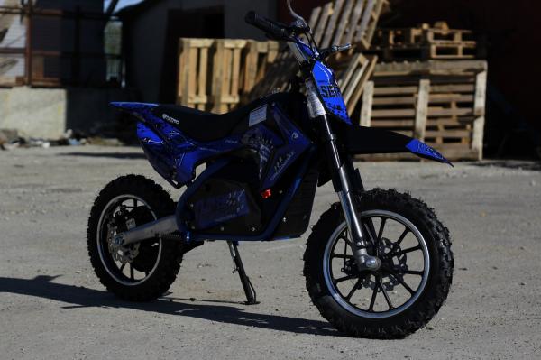 Mini motocicleta electrica NITRO Eco Serval 500W 10/10 #Albastru 2