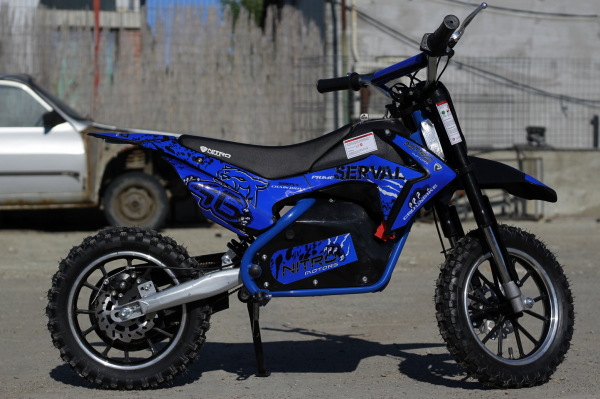 Mini motocicleta electrica NITRO Eco Serval 500W 10/10 #Albastru 4