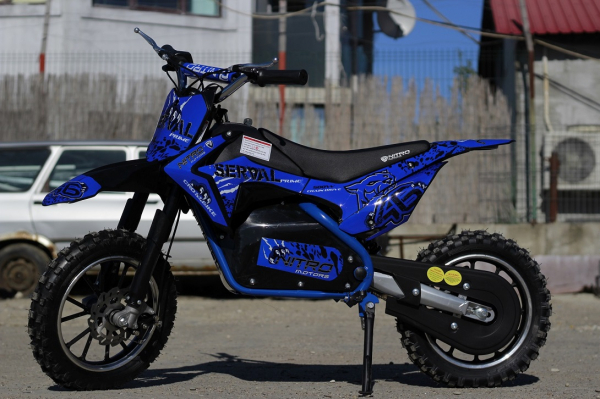 Mini motocicleta electrica NITRO Eco Serval 500W 10/10 #Albastru 3