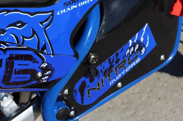 Mini motocicleta electrica NITRO Eco Serval 500W 10/10 #Albastru 6