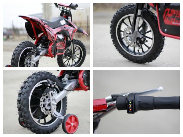 Mini motocicleta electrica NITRO Eco Serval 500W 10/10 #Rosu 7
