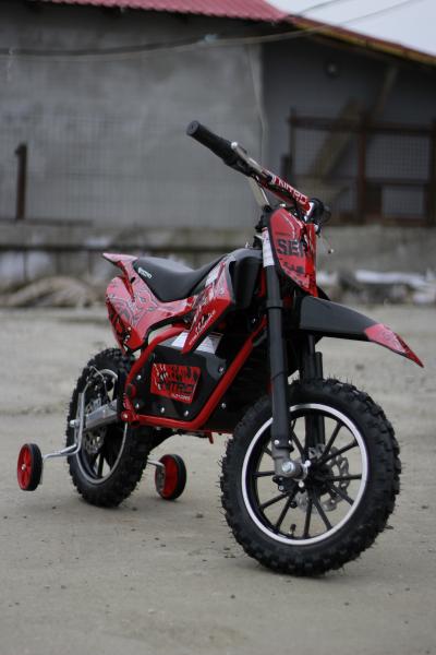 Mini motocicleta electrica NITRO Eco Serval 500W 10/10 #Rosu 2