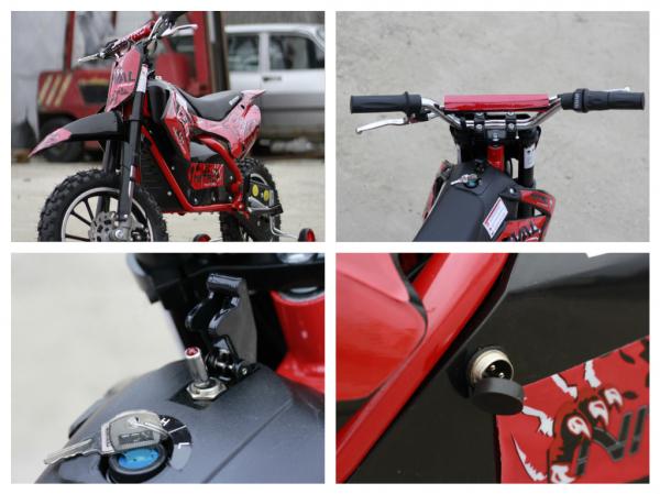 Mini motocicleta electrica NITRO Eco Serval 500W 10/10 #Rosu 6