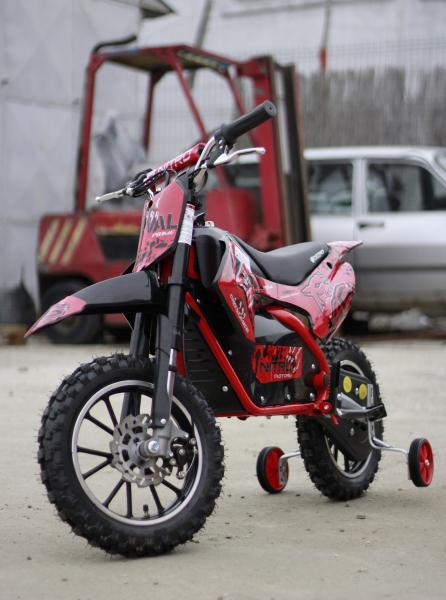 Mini motocicleta electrica NITRO Eco Serval 500W 10/10 #Rosu 1