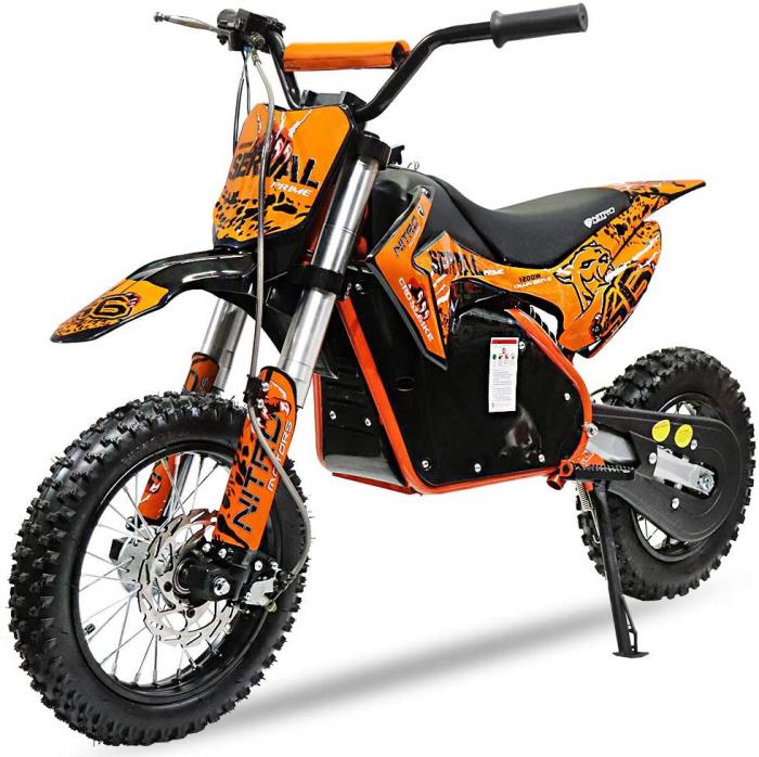 Mini motocicleta electrica NITRO Eco Serval 500W 10/10 #Portocaliu 0