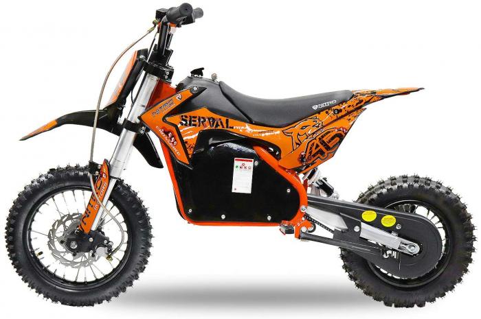 Mini motocicleta electrica NITRO Eco Serval 500W 10/10 #Portocaliu 1
