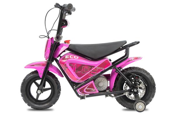 Mini Motocicleta electrica pentru copii NITRO ECO Flee 250W #Roz 2