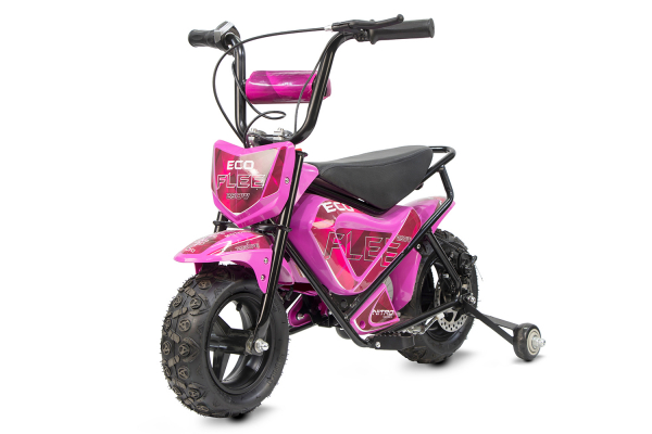 Mini Motocicleta electrica pentru copii NITRO ECO Flee 250W #Roz 0