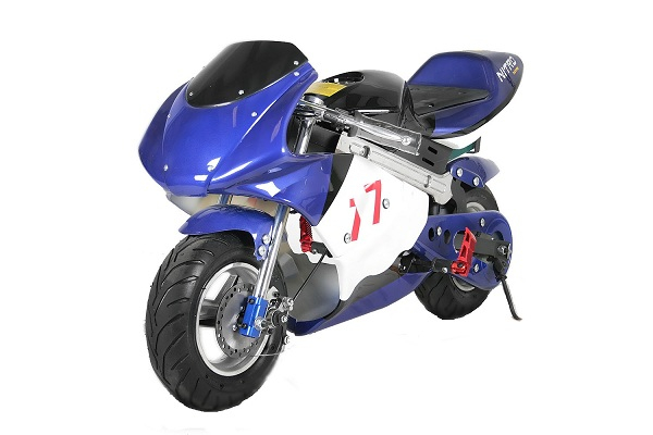 Mini Motocicleta electrica pentru copii NITRO Eco Pocket Bike 1000W #Albastru 0