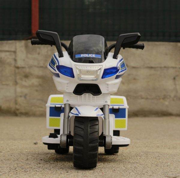 Mini Motocicleta electrica Police Motorbike TR1912 STANDARD #Alb 1
