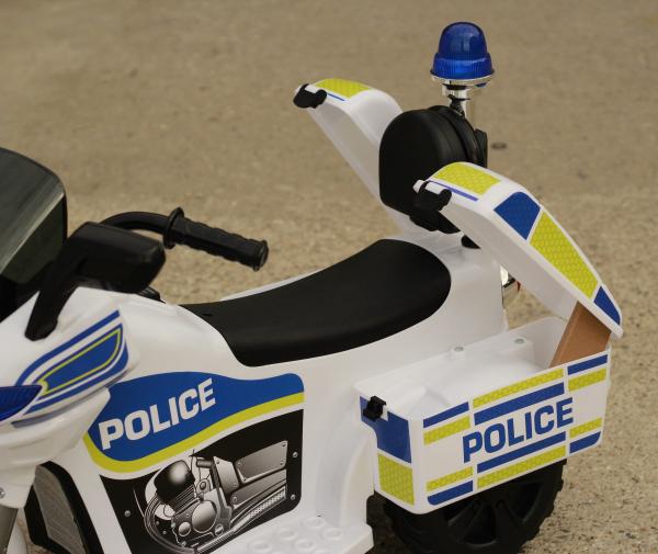 Mini Motocicleta electrica Police Motorbike TR1912 STANDARD #Alb 4