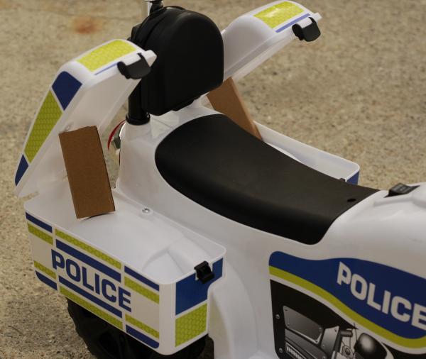 Mini Motocicleta electrica Police Motorbike TR1912 STANDARD #Alb 5