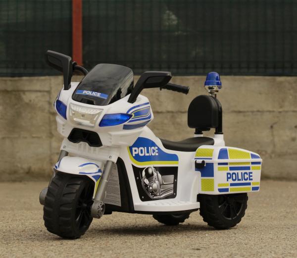 Mini Motocicleta electrica Police Motorbike TR1912 STANDARD #Alb [3]