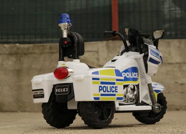 Mini Motocicleta electrica Police Motorbike TR1912 STANDARD #Alb [7]