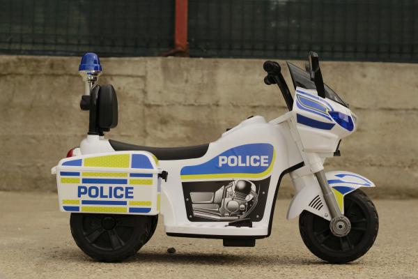 Mini Motocicleta electrica Police Motorbike TR1912 STANDARD #Alb 6
