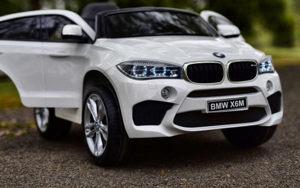 Masinuta electrica BMW X6M 2x35W 12V PREMIUM #Alb 1