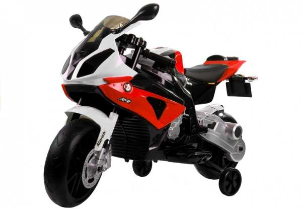 Motocicleta electrica cu roti ajutatoare BMW S1000RR PREMIUM #Rosu [1]