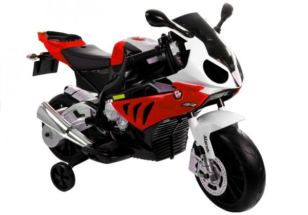 Motocicleta electrica cu roti ajutatoare BMW S1000RR PREMIUM #Rosu [0]