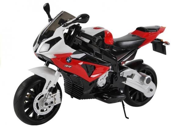 Motocicleta electrica cu roti ajutatoare BMW S1000RR PREMIUM #Rosu [5]