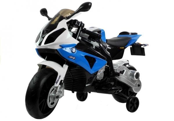 Motocicleta electrica cu roti ajutatoare BMW S1000RR PREMIUM #Albastru 5