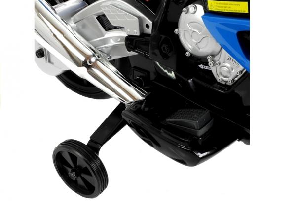 Motocicleta electrica cu roti ajutatoare BMW S1000RR PREMIUM #Albastru 7