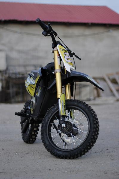 Motocicleta electrica Eco Tiger 1000W 36V 12/10 #Galben 1