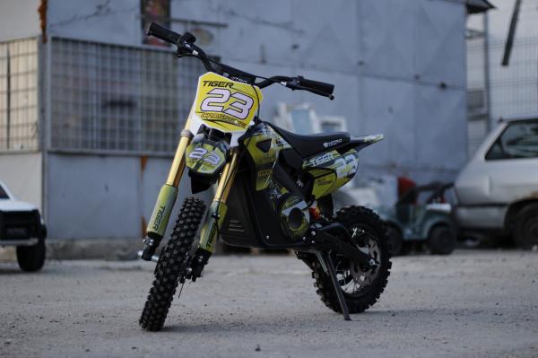Motocicleta electrica Eco Tiger 1000W 36V 12/10 #Galben 2