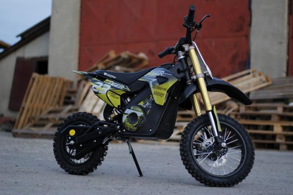 Motocicleta electrica Eco Tiger 1000W 36V 12/10 #Galben 3