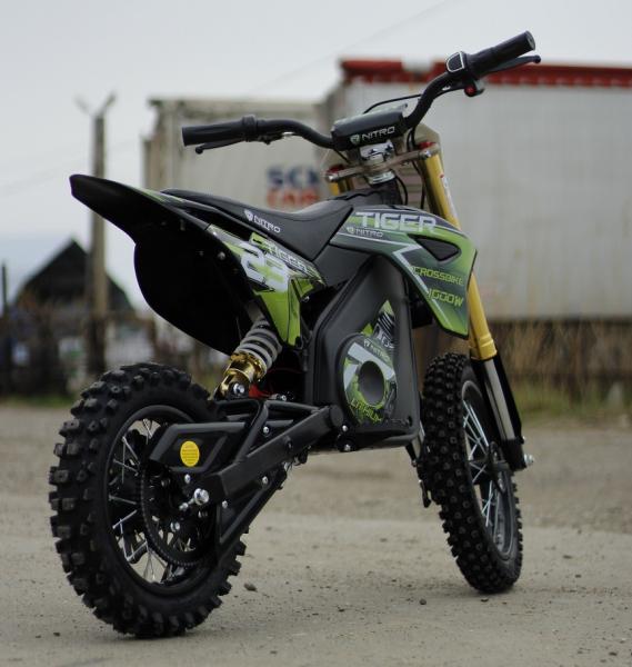 Motocicleta electrica Eco Tiger 1000W 36V 12/10 #Verde 4