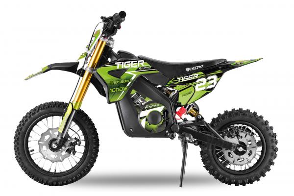Motocicleta electrica Eco Tiger 1000W 36V 12/10 #Verde 0