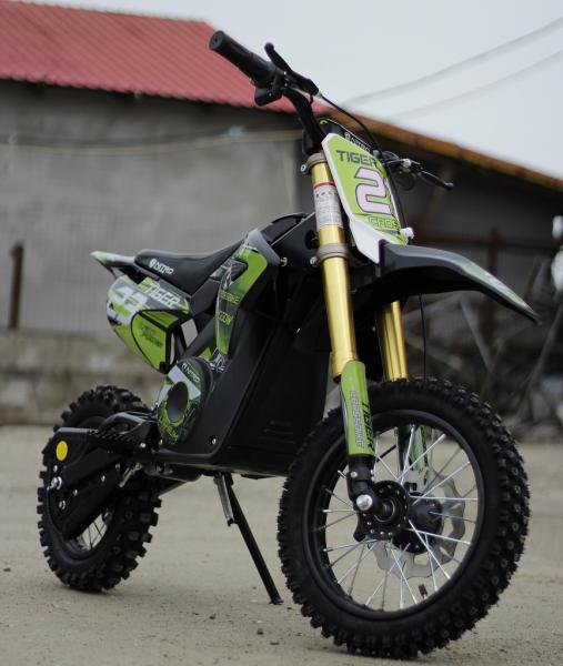 Motocicleta electrica Eco Tiger 1000W 36V 12/10 #Verde 2