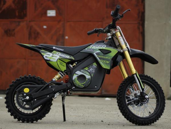 Motocicleta electrica Eco Tiger 1000W 36V 12/10 #Verde 3