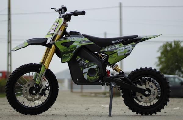 Motocicleta electrica Eco Tiger 1000W 36V 12/10 #Verde 6