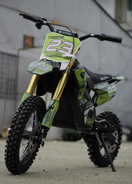 Motocicleta electrica Eco Tiger 1000W 36V 12/10 #Verde 7