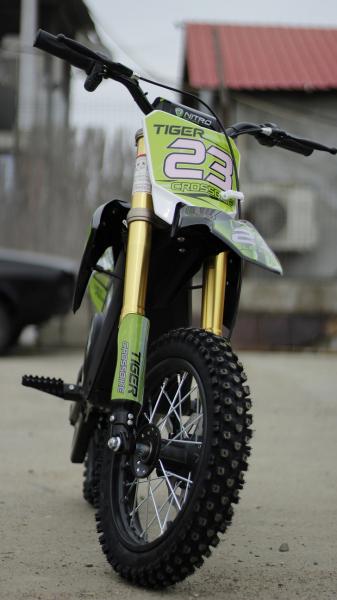 Motocicleta electrica Eco Tiger 1000W 36V 12/10 #Verde 1