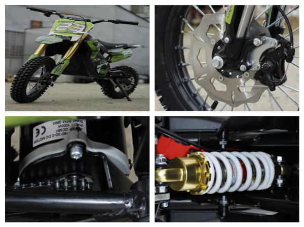 Motocicleta electrica Eco Tiger 1000W 36V 12/10 #Verde 10