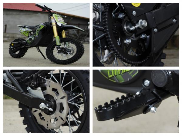 Motocicleta electrica Eco Tiger 1000W 36V 12/10 #Verde 9