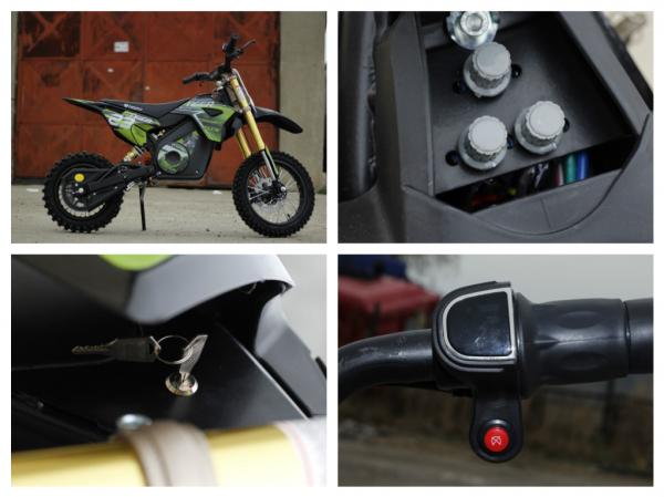 Motocicleta electrica Eco Tiger 1000W 36V 12/10 #Verde 8
