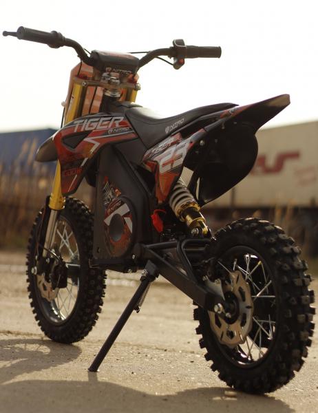 Motocicleta electrica Eco Tiger 1000W 36V 12/10 #Portocaliu 4