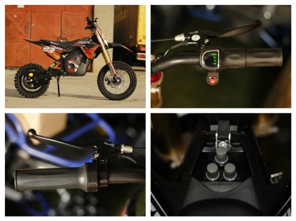 Motocicleta electrica Eco Tiger 1000W 36V 12/10 #Portocaliu 5