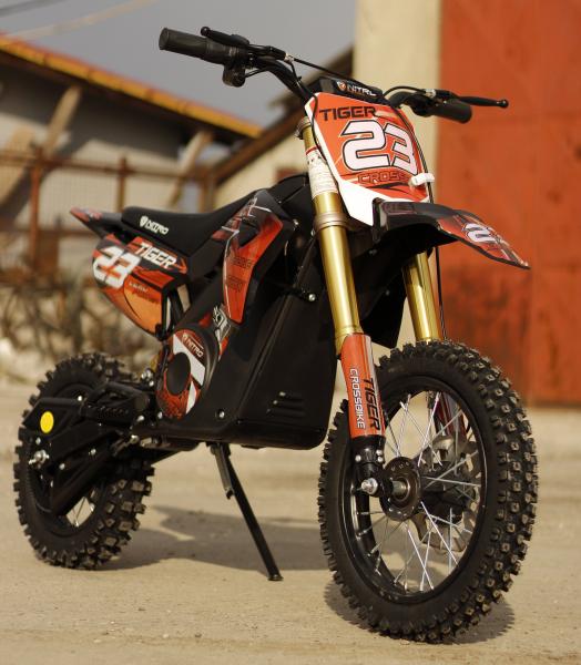 Motocicleta electrica Eco Tiger 1000W 36V 12/10 #Portocaliu 1
