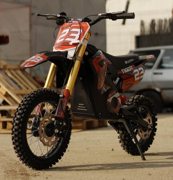 Motocicleta electrica Eco Tiger 1000W 36V 12/10 #Portocaliu 2