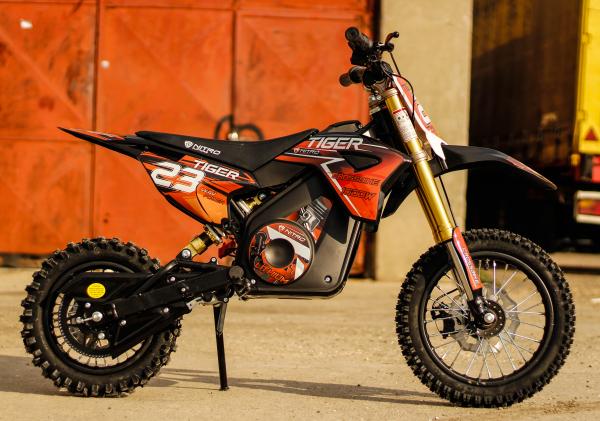 Motocicleta electrica Eco Tiger 1000W 36V 12/10 #Portocaliu 8